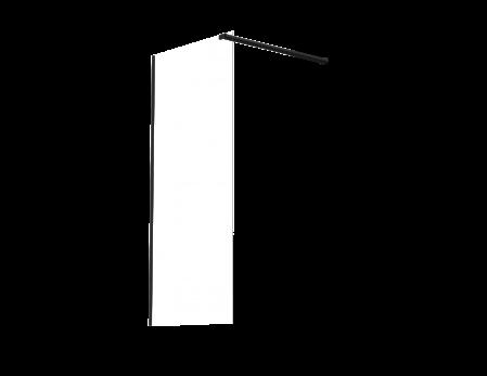 WALL MNT S/SCRN BLACK 1200*2000*8MM INC 1xSTAB (CLEAR GLASS)