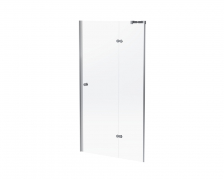 SFD10SC SEMI FRAME HINGED DOOR SIL/CLR 1000*1860*6MM (NEW)