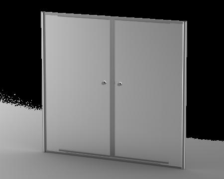 DUO17SC DUO IN-LINE DOOR SIL/CLR 1700-1900*1860MM